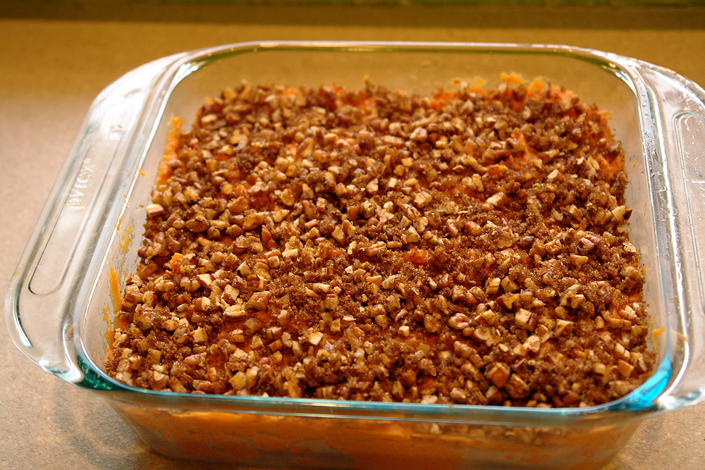 Sweet Potato-Pecan Casserole | Buffalo Foodie